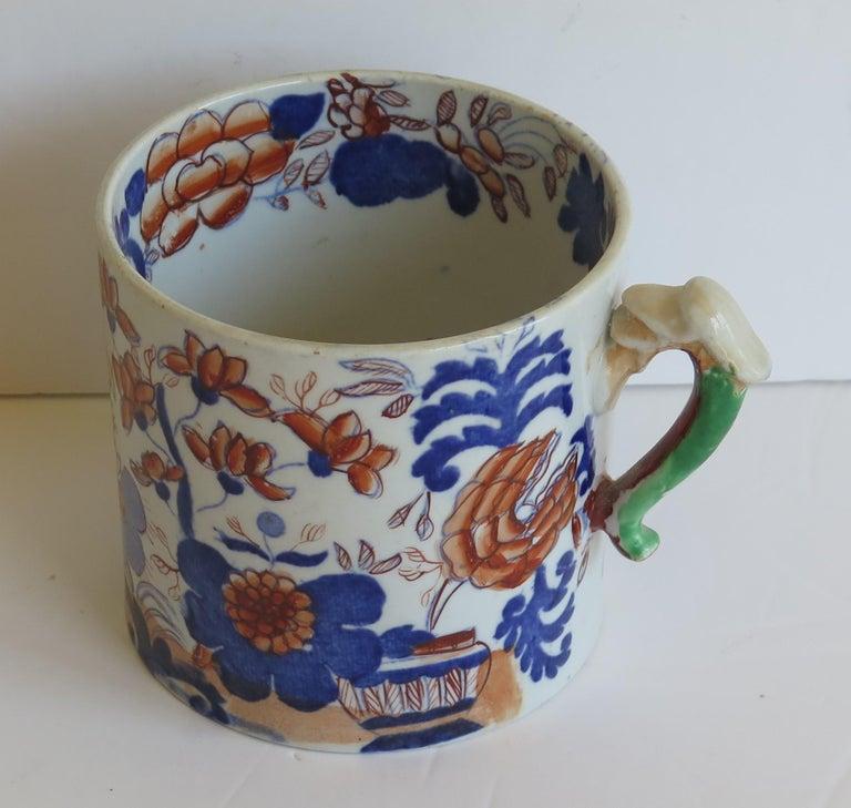 Early 19th Century Mason's Ironstone Mug in Basket Japan Pattern, circa 1820 For Sale 3
