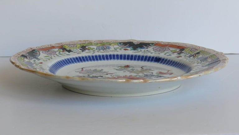 Early 19th Century Masons Ironstone Plate in Ragged Rose Pattern, Circa 1830 In Good Condition For Sale In Lincoln, Lincolnshire