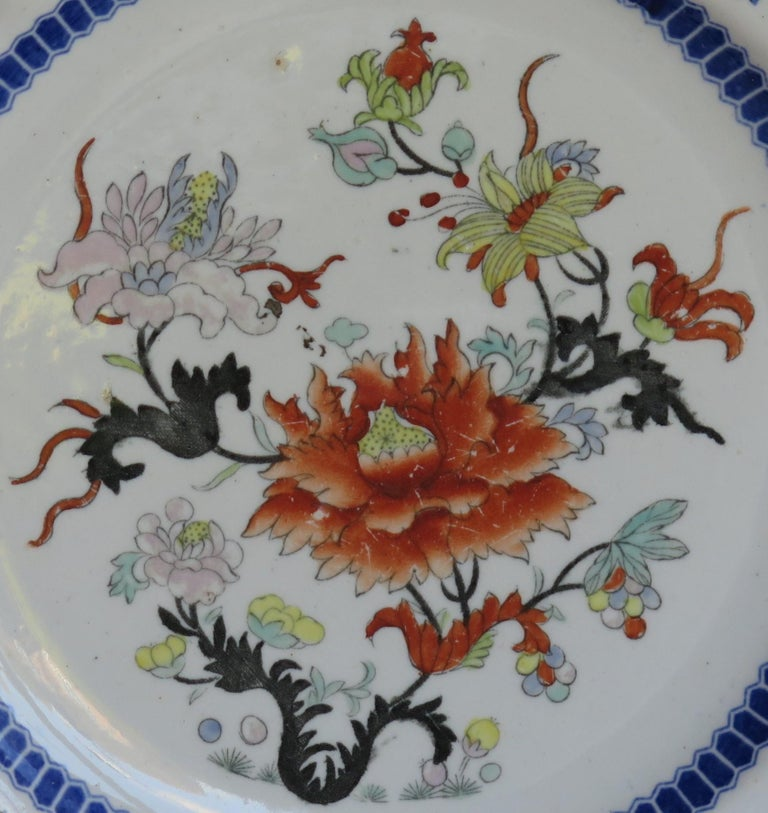 Early 19th Century Masons Ironstone Plate in Ragged Rose Pattern, Circa 1830 For Sale 2