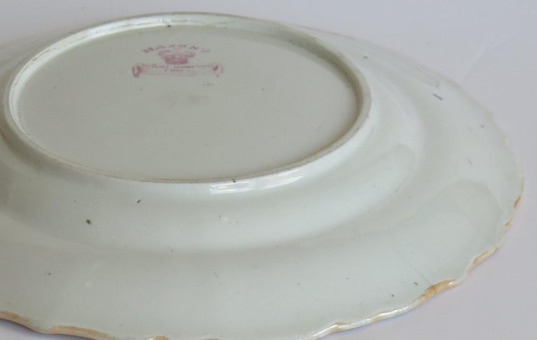 Early 19th Century Masons Ironstone Plate in Ragged Rose Pattern, Circa 1830 For Sale 3