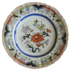 Early 19th Century Masons Ironstone Plate in Ragged Rose Pattern, Circa 1830