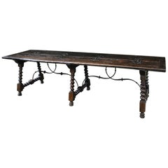 Early 19th Century Massive Spanish Walnut Table