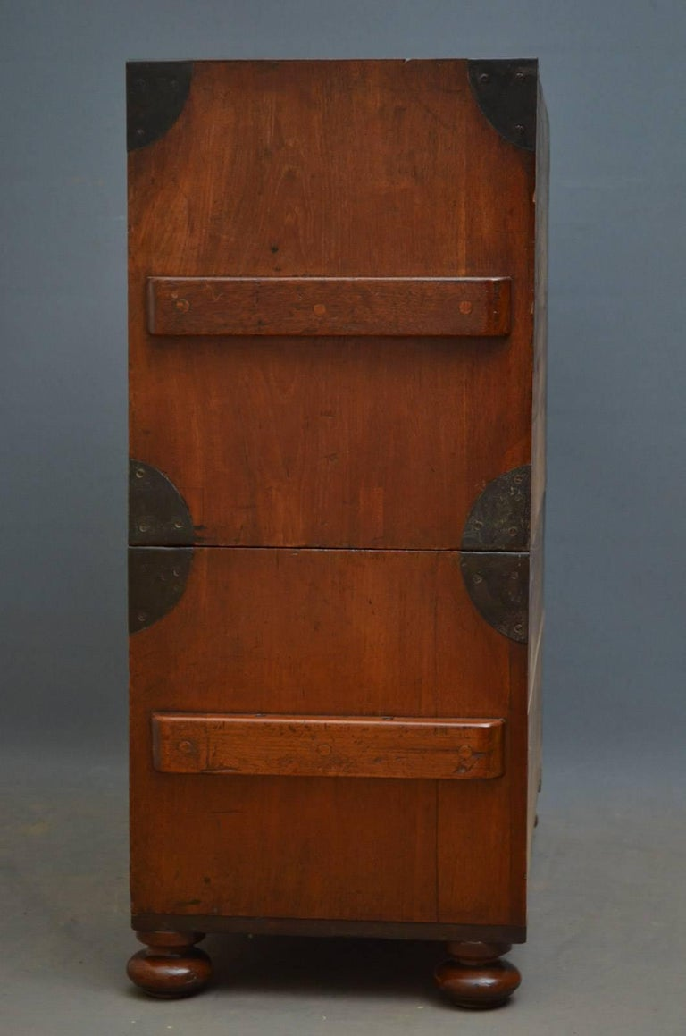 Early 19th Century Military Chest with Secretaire For Sale 3