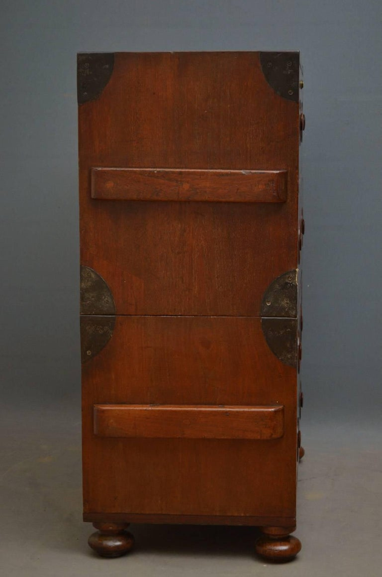 Early 19th Century Military Chest with Secretaire For Sale 4