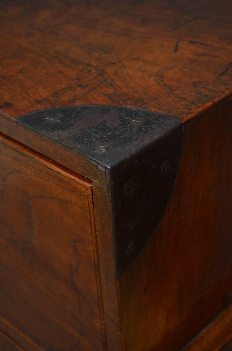 English Early 19th Century Military Chest with Secretaire For Sale