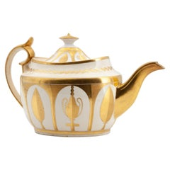 Early 19th Century Minton Porcelain Neoclassical Gilded Teapot