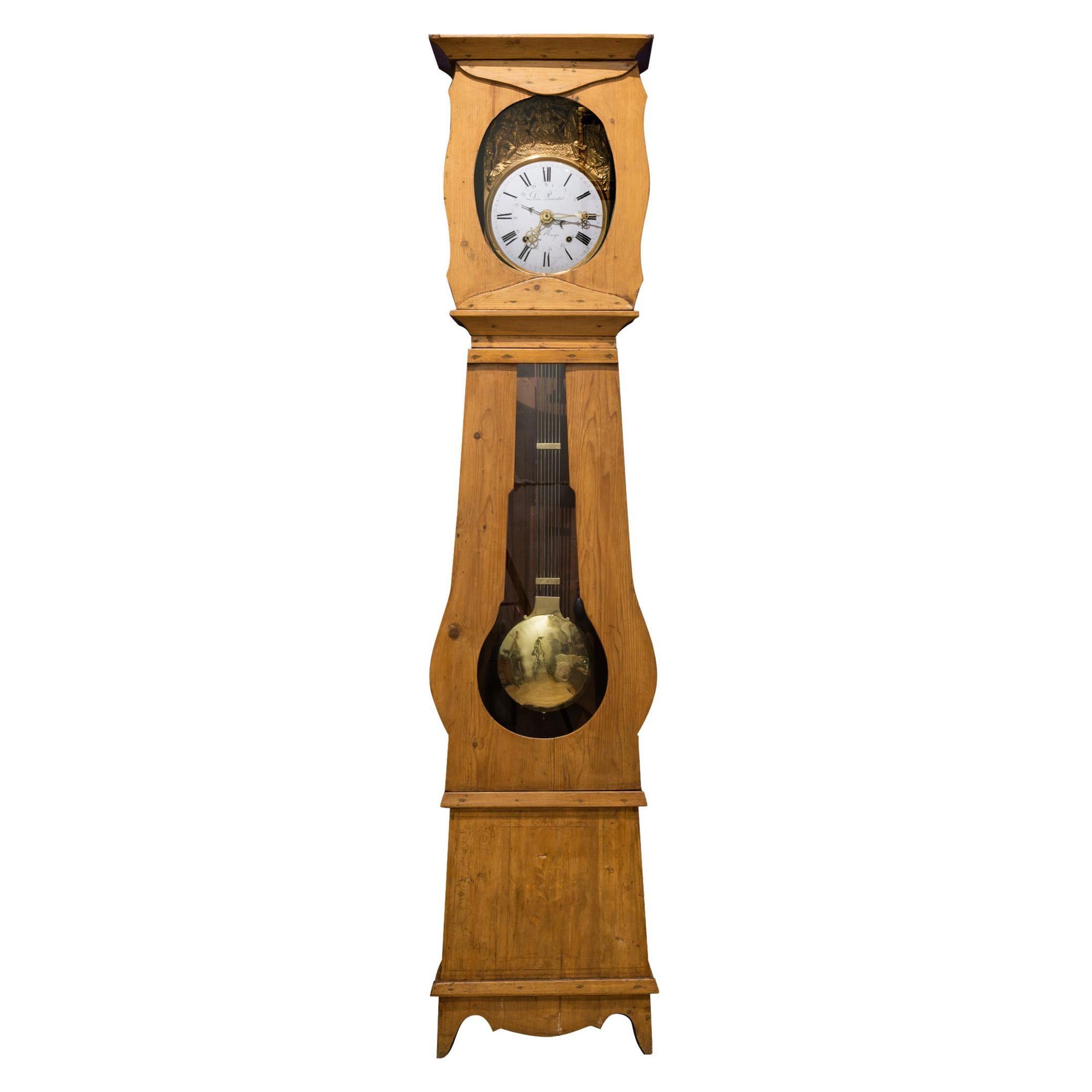 Early 19th Century Mobier Longcase Clock, circa 1830-1850