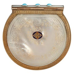 Early 19th Century Mother of Pearl, Enamel and Silver-Gilt Wallet