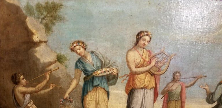European Early 19th Century Musical Nymphs Painting For Sale