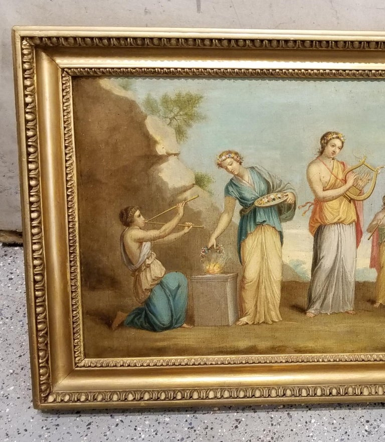 Early 19th Century Musical Nymphs Painting In Good Condition For Sale In Fulton, CA