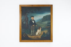 Early 19th Century Naive Oil on Canvas