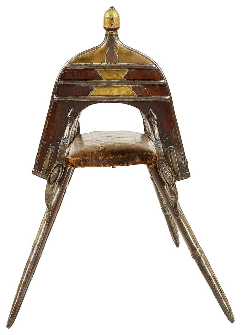 Egyptian Early 19th Century Napoleonic Camel Seat For Sale