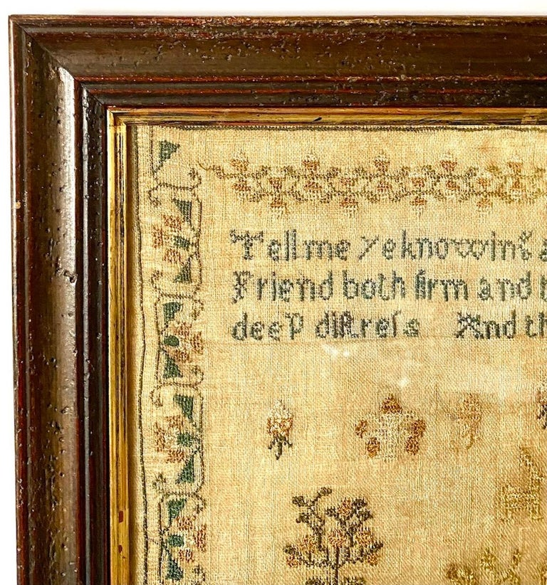 Early 19th Century Needle Work Sampler by Ann Gould For Sale 3