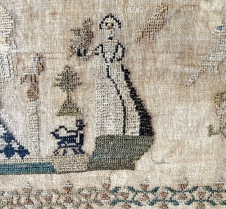 English Early 19th Century Needle Work Sampler by Ann Gould For Sale