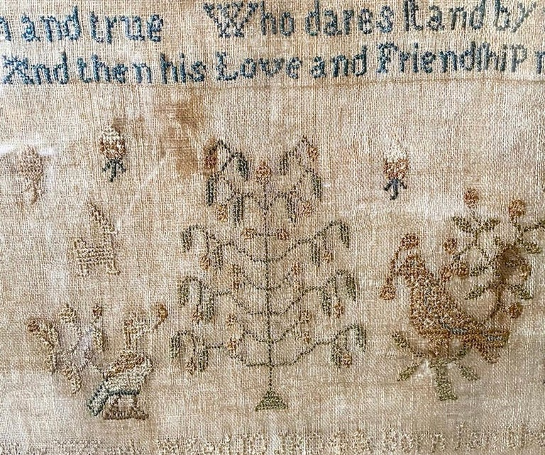 Late 18th Century Early 19th Century Needle Work Sampler by Ann Gould For Sale