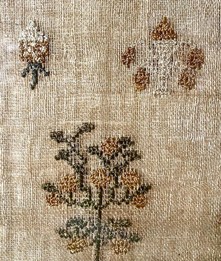 Linen Early 19th Century Needle Work Sampler by Ann Gould For Sale