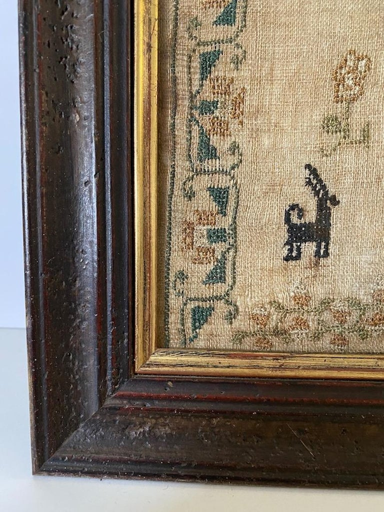 Early 19th Century Needle Work Sampler by Ann Gould For Sale 1