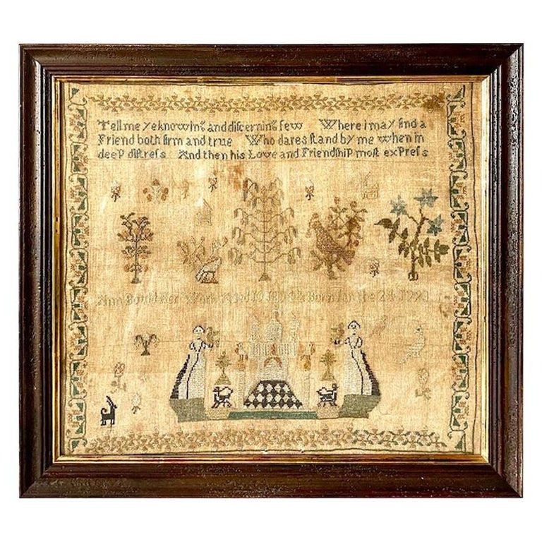 Early 19th Century Needle Work Sampler by Ann Gould For Sale