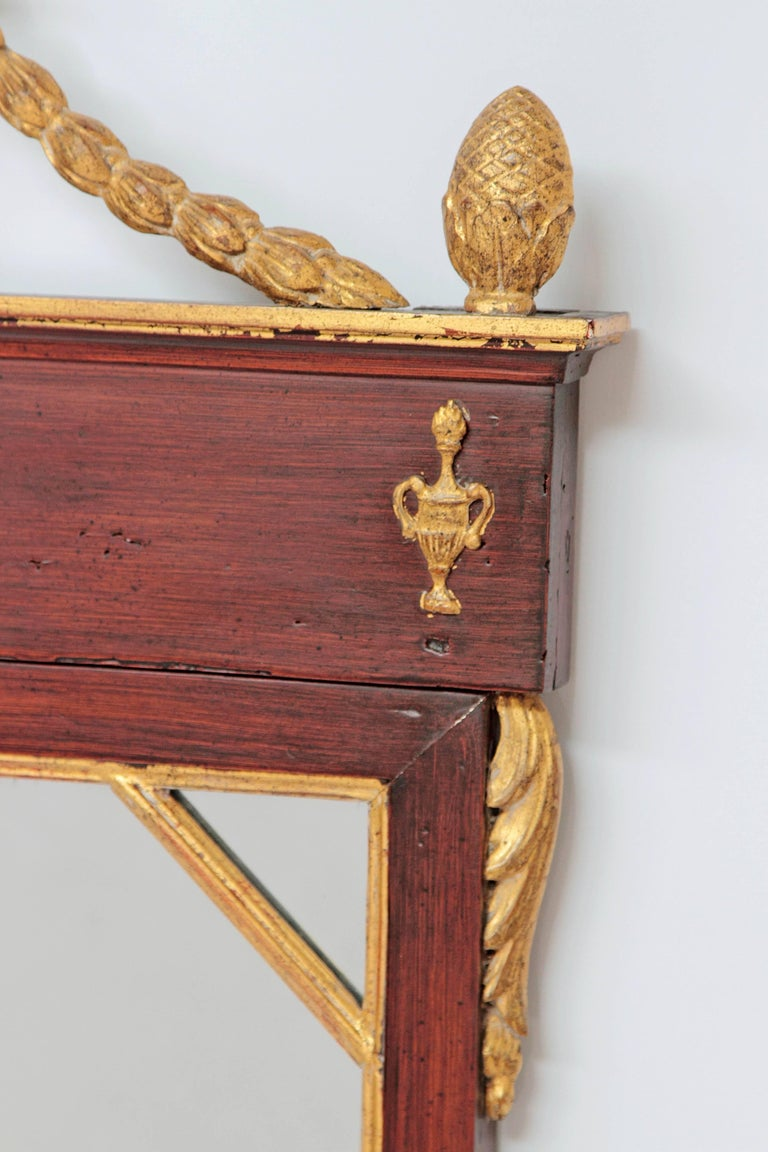 Hand-Carved Early 19th Century Neoclassic Mirror For Sale