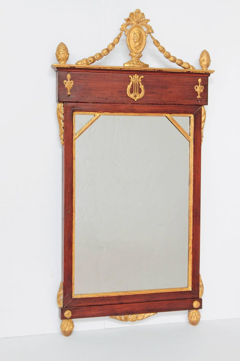 Wood Early 19th Century Neoclassic Mirror For Sale