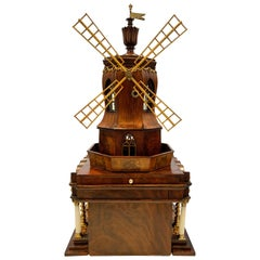 Early 19th Century Neoclassical Automaton Windmill Sewing Box