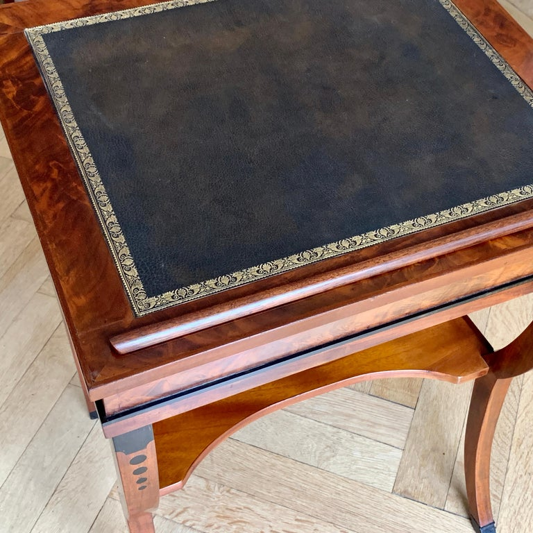 French Early 19th Century Neoclassical Metamorphic Drafting-cum-Reading Mahogany Table For Sale