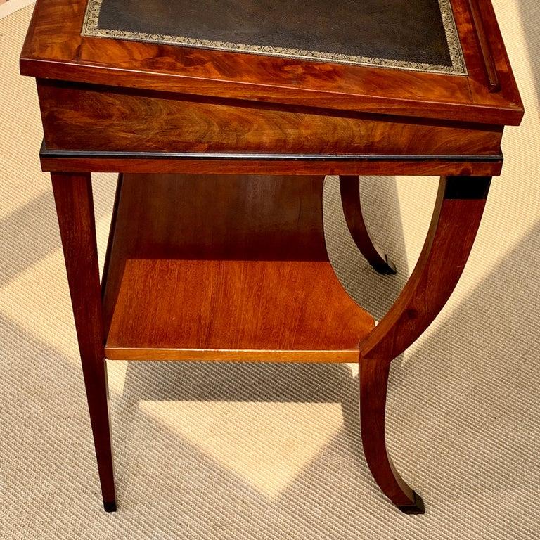 Veneer Early 19th Century Neoclassical Metamorphic Drafting-cum-Reading Mahogany Table For Sale