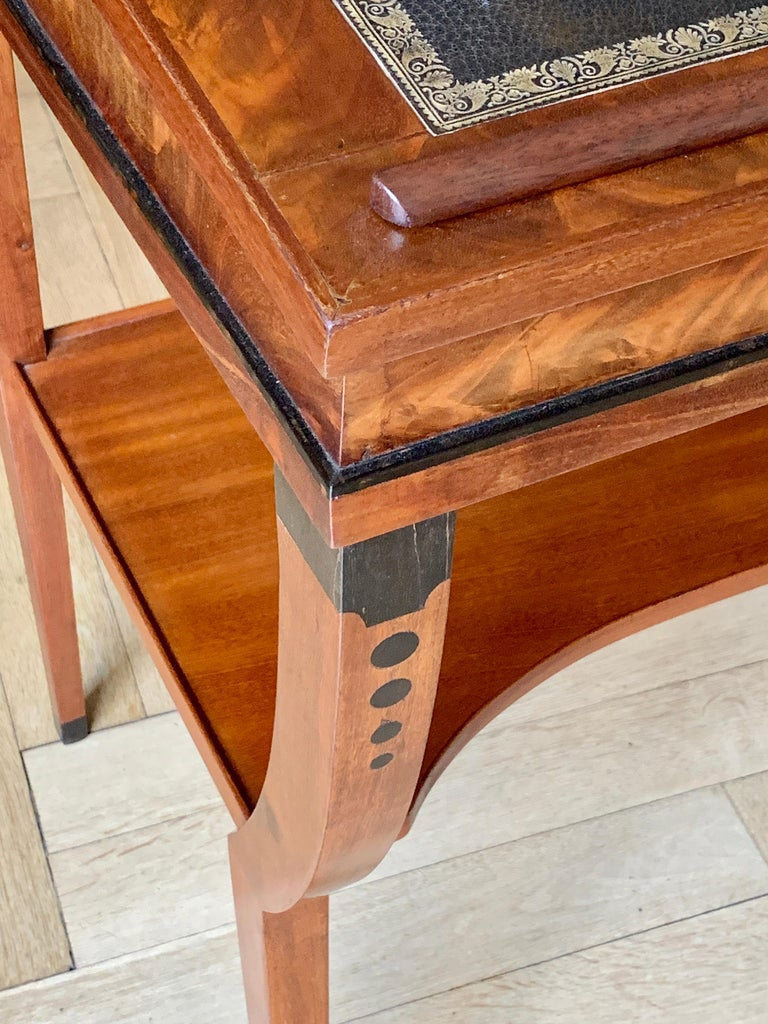 Early 19th Century Neoclassical Metamorphic Drafting-cum-Reading Mahogany Table For Sale 1