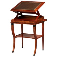 Early 19th Century Neoclassical Metamorphic Drafting-cum-Reading Mahogany Table