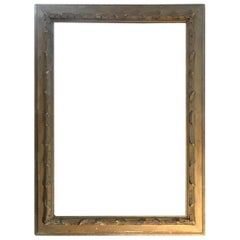 Early 19th Century Neoclassical Rectangular Lacquered Wood Frame