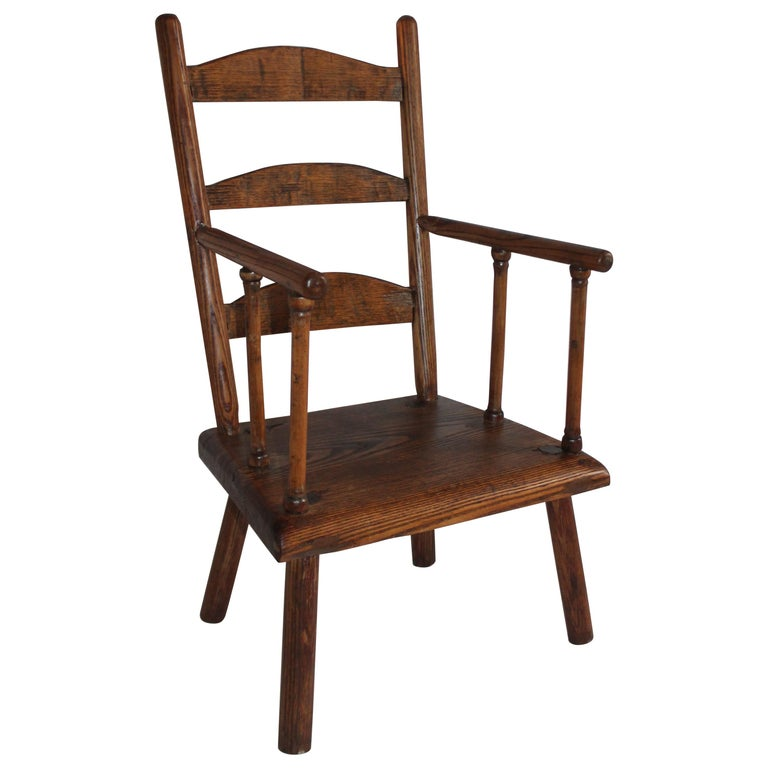 Early 19th Century New England Child's Chair For Sale