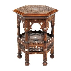 Early 19th Century North African Mahogany Hexagonal Occasional Table