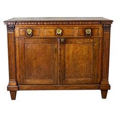 Early 19th Century Oak Commode Vanity