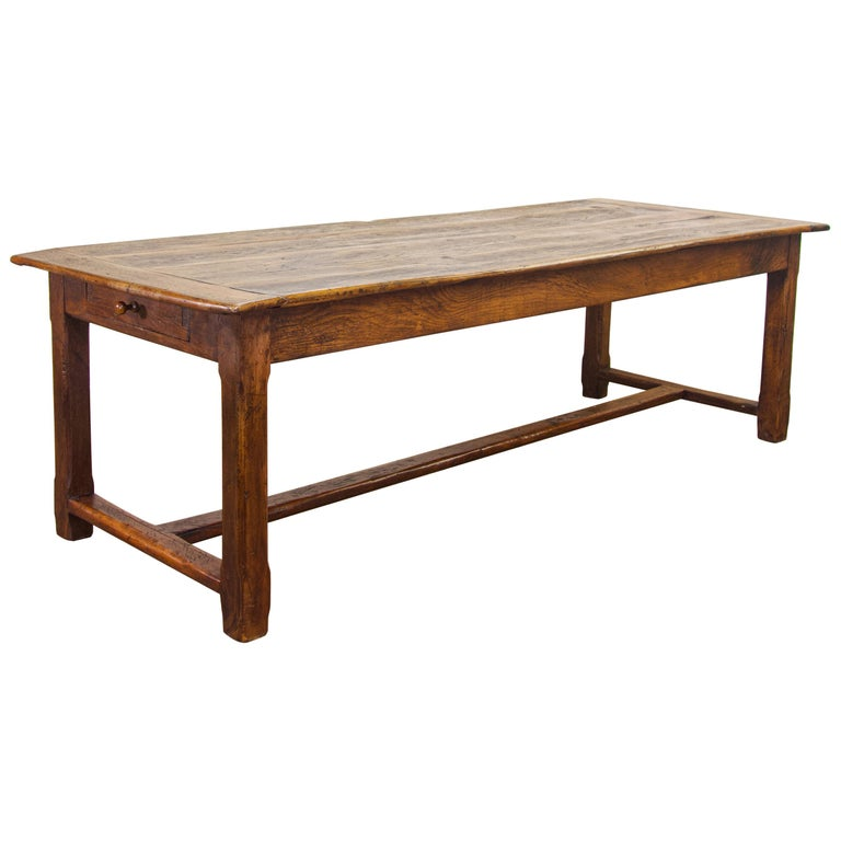 Early 19th Century Oak French Farmhouse Refectory Table