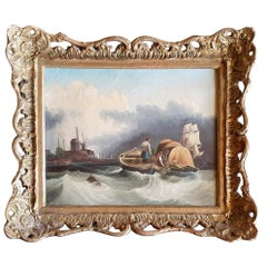 Early 19th Century Oil on Canvas Attributed to C M Powell