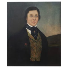Early 19th Century Oil Portrait of a Handsome Young Man