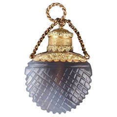 Early 19th Century Opaline Perfume Flask with Gold