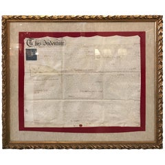 Early 19th Century Original Land Indenture, England, 1810