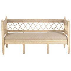 Early 19th Century Original Paint Swedish Sofa