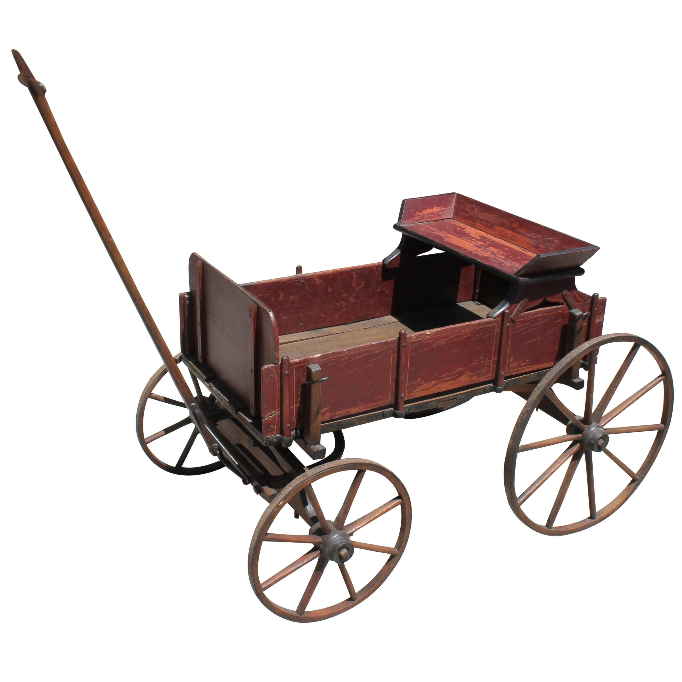 Early 19th Century Original Painted Wagon