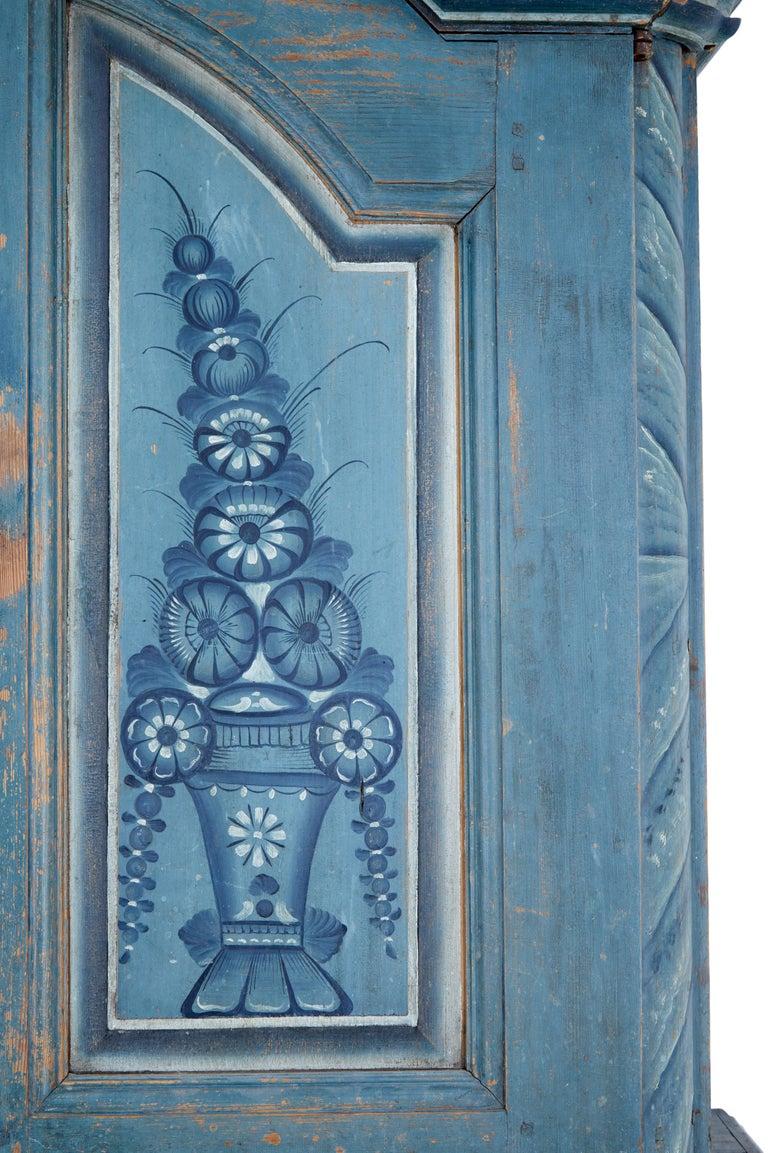Early 19th Century Original Painted Tuna Region Swedish Cabinet For Sale 2
