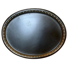 Early 19th Century Oval Black Tole Tray