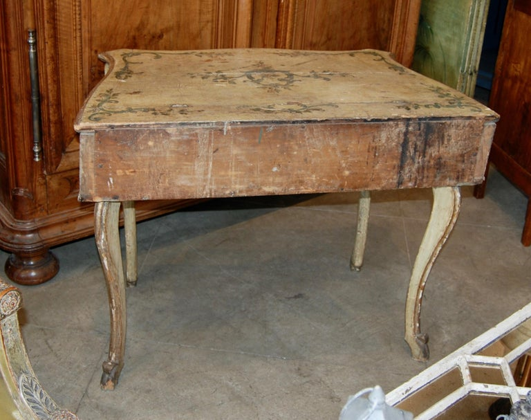 French Early 19th Century Painted Dressing Table For Sale