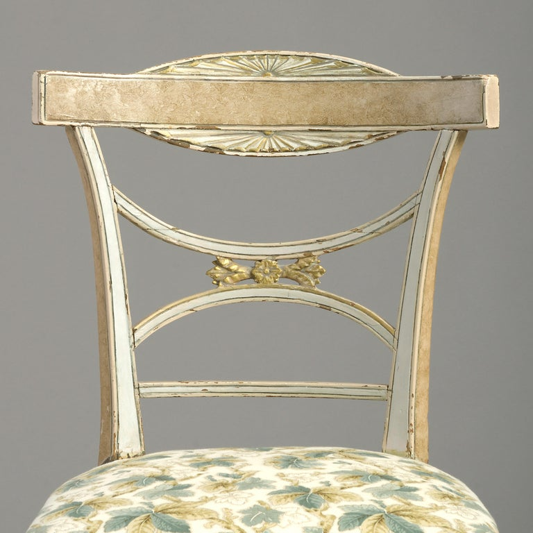 Swedish Early 19th Century Painted Gustavian Side Chair For Sale