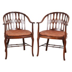 Early 19th Century Pair of Mahogany Armchairs