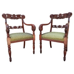 Early 19th Century Pair of Caribbean, West Indies Regency Chairs