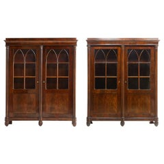 Early 19th Century Pair of French Empire Period Bookcases