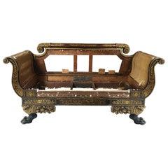 Early 19th Century Parcel-Gilt Grecian Sofa