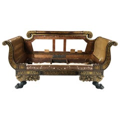 Early 19th Century Parcel-Gilt Grecian Sofa