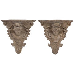 Early 19th Century Patinated Venetian Wall Brackets